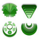 Velen Verschillend Groen Logo Brand Ideas royalty-vrije illustratie