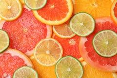 Velen verse yummy citrusvrucht royalty-vrije stock foto