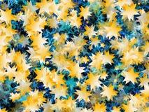 Velen vliegend goud en blauw spelen achtergronden mee vector illustratie