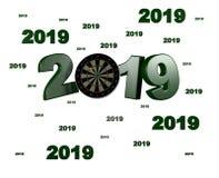 Velen werpen Doel 2019 Ontwerpen vector illustratie
