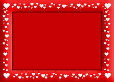 Velentine's red frame Royalty Free Stock Images