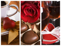 Velentines Day collage Stock Photography