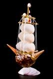 Velero de conchas de berberecho Imágenes de archivo libres de regalías