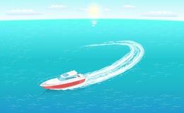 Velero de la emergencia del rescate, guardacostas Transport libre illustration