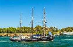 Velero del vintage en Sydney Harbour, Australia fotografía de archivo