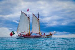 Velero en el océano de Lagos fotografía de archivo libre de regalías