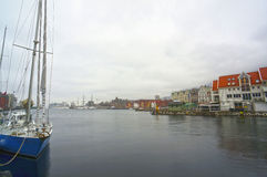Velero en el puerto de Oslo, Noruega Imagen de archivo libre de regalías
