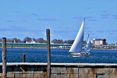 Velero en Newport Rhode Island foto de archivo libre de regalías