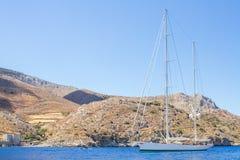 Velero hermoso en el mar Mediterráneo Imagen de archivo