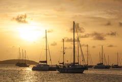 Veleros amarrados en un St Martin Harbor II Fotografía de archivo libre de regalías
