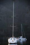 Veleros en el lago Windermere, Cumbria fotografía de archivo libre de regalías