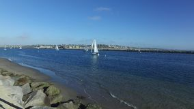 Veleros en Marina del Rey, California almacen de metraje de vídeo