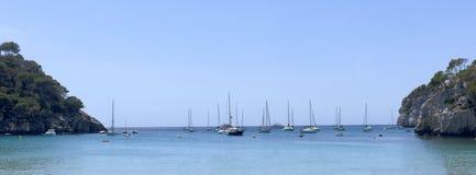 Veleros en Menorca Imágenes de archivo libres de regalías