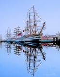 Veleros en puerto de Cádiz capital. España Stock Photography