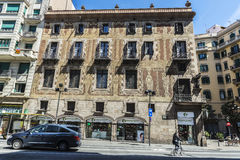 Velers house in the old town of Barcelona Stock Photos