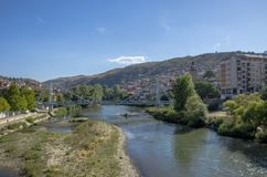 Veles city in Macedonia. Veles city in Republic of Macedonia. Located on Vardar river stock images