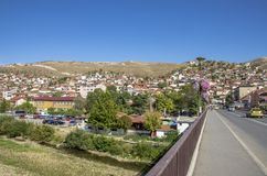 Veles miasto w Macedonia obrazy royalty free