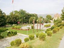 Veles. Park in city of Veles Stock Image