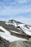 Spring slope of Veleta in the Sierra Nevada Stock Image