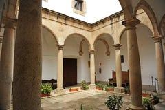 Veletas slott, museum, Caceres, Extremadura, Spanien Royaltyfri Foto