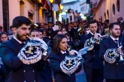 VELEZ-MALAGA, ESPAÑA - 24 de marzo de 2018 gente que participa en Imagen de archivo libre de regalías