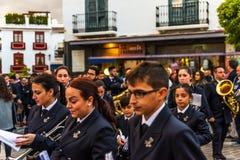 VELEZ-MALAGA, ESPAÑA - 24 de marzo de 2018 gente que participa en Foto de archivo