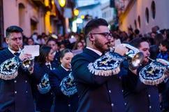VELEZ-MALAGA, ESPAGNE - 24 mars 2018 les gens participant au Images libres de droits