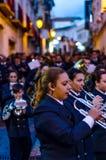 VELEZ-MALAGA, ESPAGNE - 24 mars 2018 les gens participant au Photos stock