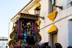 VELEZ-MALAGA, ESPANHA - 5 de janeiro de 2018 parada por ocasião de Imagem de Stock