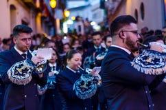 VELEZ-MALAGA, ESPANHA - 24 de março de 2018 pessoa que participa no Foto de Stock Royalty Free