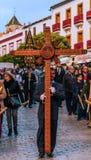 VELEZ-MALAGA, SPAGNA - 24 marzo 2018 la gente che partecipa al Immagine Stock