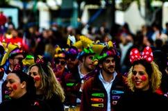 VELEZ-MALAGA, SPAIN - FEBRUARY 3, 2018People in costumes celebr. VELEZ-MALAGA, SPAIN - FEBRUARY 3, 2018 People in costumes celebrating carnival in Malaga stock photos