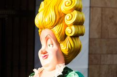 VELEZ-MALAGA, SPAIN - FEBRUARY 3, 2018People in costumes celebr. VELEZ-MALAGA, SPAIN - FEBRUARY 3, 2018 stock photos