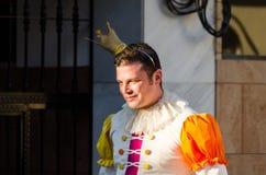 VELEZ-MALAGA, SPAIN - FEBRUARY 3, 2018People in costumes celebr. VELEZ-MALAGA, SPAIN - FEBRUARY 3, 2018 People in costumes celebrating carnival in Malaga royalty free stock photography
