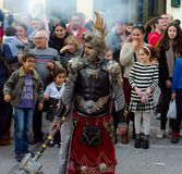 VELEZ-MALAGA, SPAIN - JANUARY 5, 2018.Parade on the occasion of the Epiphany holiday in Andalusia, Epiphany Celebrating in Malaga. VELEZ-MALAGA, SPAIN - JANUARY stock images