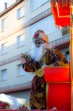 VELEZ-MALAGA, SPAIN - JANUARY 5, 2018.Parade on the occasion of the Epiphany holiday in Andalusia, Epiphany Celebrating in Malaga. VELEZ-MALAGA, SPAIN - JANUARY stock photography