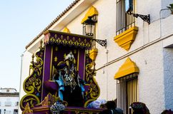 VELEZ-MALAGA, SPAIN - JANUARY 5, 2018 Parade on the occasion of. The Epiphany holiday  in Malaga province, holiday day, procession Stock Image
