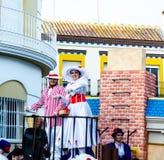 VELEZ-MALAGA, SPAIN - JANUARY 5, 2018 Parade on the occasion of. The Epiphany holiday  in Malaga province, holiday day, procession Stock Photos