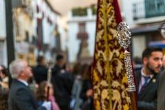 VELEZ-MALAGA, SPANIEN - 24. März 2018 Leute, die an teilnehmen Stockfoto