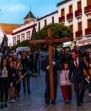 VELEZ-MALAGA, SPANIEN - 24. März 2018 Leute, die an teilnehmen Lizenzfreie Stockbilder