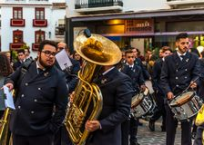 VELEZ-MALAGA, SPANIEN - 24. März 2018 Leute, die an teilnehmen Stockfotos