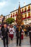 VELEZ-MALAGA, SPANIEN - 24. März 2018 Leute, die an teilnehmen Lizenzfreie Stockfotografie