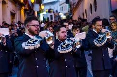 Velez-MALAGA, SPANJE - MAART die 24, 2018 Mensen aan deelnemen Stock Afbeeldingen