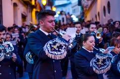 Velez-MALAGA, SPANJE - MAART die 24, 2018 Mensen aan deelnemen Royalty-vrije Stock Foto