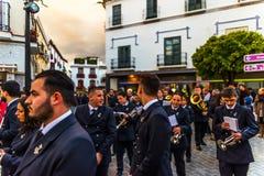 Velez-MALAGA, SPANJE - MAART die 24, 2018 Mensen aan deelnemen Stock Foto's