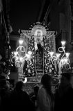 Silence Procession with the Blessed Virgin, Our Lady of Solitude Royalty Free Stock Photos