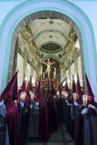 Optocht van Cristo del Perdon in velez-Rubio Royalty-vrije Stock Foto's