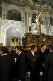 Optocht van Cristo del Perdon in velez-Rubio Stock Foto