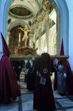 Optocht van Cristo del Perdon in velez-Rubio Stock Afbeeldingen