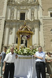 Corpus Christi in Velez-Rubio, Almeria, Spain. Velez-Rubio,Spain - Participants in the traditional Corpus Christi religious procession on June 10, 2012  in Velez Stock Image